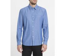 Chambray-blaues Slim-Hemd