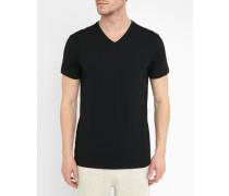 Unterhemd schwarz mit V-Ausschnitt
