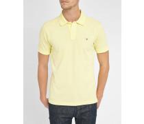 Poloshirt aus verwaschen gelbem Piqué