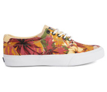 Orange Sneaker mit Palmen-Print Striper