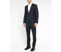 Navy Aret Eto Pr Slim-Fit Striped Suit