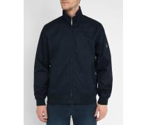 Marineblaue Oxford-Jacke aus Baumwolle