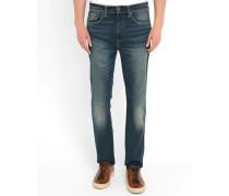 522-Tapered-Jeans mit ausgewaschenem Dunkelblau