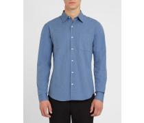 Marineblaues Slim-Fit-Hemd