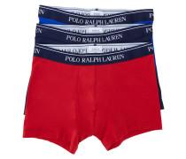Dreierpack Boxershorts in Marineblau, Blau und Rot