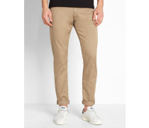 Jeans Tapered Fit Stretch Lycra Vicious Lamar in Washed-Sandfarbe
