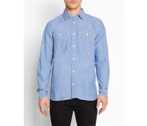 Blaues Denimhemd mit Brusttaschen Clink Knoxville