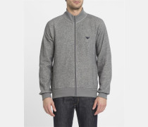 Graues Sweatshirt mit Reißverschluss Armani