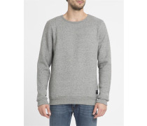 Grau meliertes Sweatshirt Bardo mit Rundhalsausschnitt