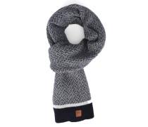 Zick-Zack-Schal aus grauer Wolle