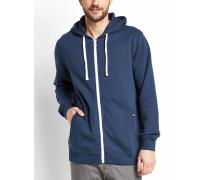 Marineblau-weißes Sweatshirt mit Reißverschluss Scott