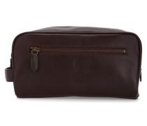 Braune Kulturtasche aus Leder
