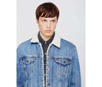 Type 3 Sherpa Trucker Jacket Light Blue Denim