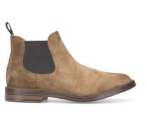 Tabakbraune Chelsea-Boots Idea aus Veloursleder