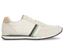 Sneakers Moogg aus Veloursleder und Mesh in Weiß