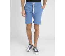 Blaumelierte Molton-Shorts
