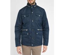 Marineblaue Jacke mit zwei Knöpfen und aufgesetzten Taschen