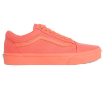 Coral Old Skool Monochrome Canvas Sneakers