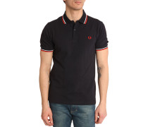 Poloshirt Slim Fit marineblau
