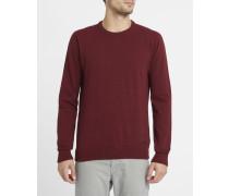 Bordeauxrot melierter Pullover mit Rundhalsausschnitt Irie Patch Knit