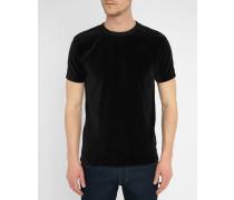T-Shirt Perfect aus schwarzem Samt