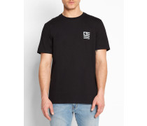 T-Shirt mit Rundhalsausschnitt und State Mountain-Druck in Schwarz