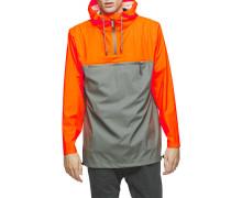 Zweifarbiger Regenanorak Orange und Grau