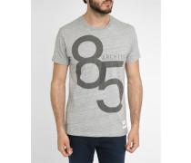 Graumeliertes gestreiftes T-Shirt Archive