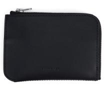 Leder-Portemonnaie Penny in Schwarz mit Reißverschluss