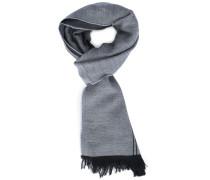 Zweiseitiger Schal in Perlgrau und Anthrazit mit Armani-Logo