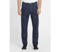 Denimblaue Cargohose Ruck Double Knee Canyon