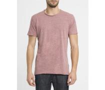 Rot meliertes Vintage-T-Shirt mit Rundhalsausschnitt 1003