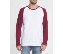 Weiß-bordeauxrotes T-Shirt ML Louis