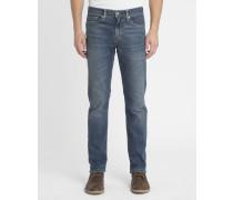 Verwaschene blaue Slim Jeans 511