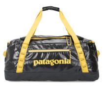 Anthrazitgrau-gelbe Handgepäcktasche mit Trägern Duffle Black Hole 60L