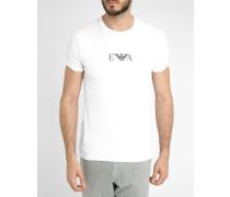 Doppelpack weiße T-Shirts mit Rundhalsausschnitt und Logo
