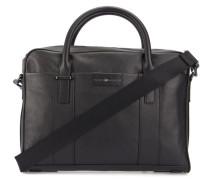 Aktentasche aus schwarzem genarbtem Leder