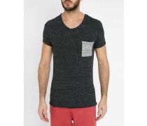 Grau meliertes T-Shirt Rabico mit Tasche