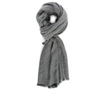 Schwarz-weißes XXL-Halstuch aus Wolle