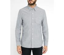 Graues Oxfordhemd