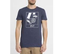 Marineblaues T-Shirt 1825 CRA mit Grafikmuster
