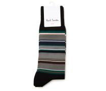 Schwarze Socken Val Stripes