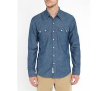 Blaues Westernhemd aus Denim Pr Sawtooth Selvedge