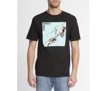 Schwarzes T-Shirt mit Aufdruck Spark Of Life