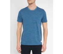 Blaumeliertes gestreiftes T-Shirt