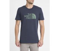 Marineblaues T-Shirt mit Rundhalsausschnitt und Logo S/S Easy Tee