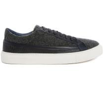 Sneaker aus Flanell grau und blau Poppy