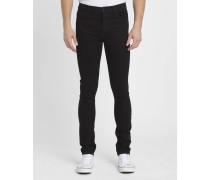 Schwarze Skinny-Jeans mit Stretch Trevor Blaine