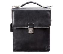 Herren Leder Handtasche in Schwarz