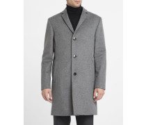 Mantel aus Kaschmirwolle grau